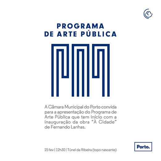 web flyer arte publica Lanhas