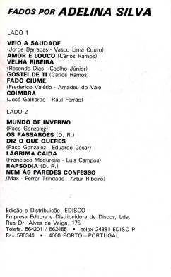 Adelina Silva K7 1990005
