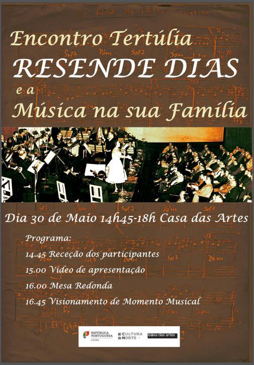 RESENDE DIAS Casa das Artes Encontro Tertúlia